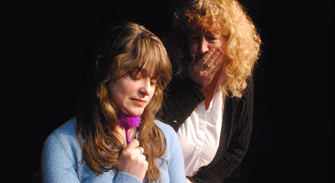 Susan Vargo and Megan Mateer in the Bard's <i>Two Gentlemen of Verona</i>